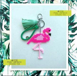 Flamingo keychain/bag charm