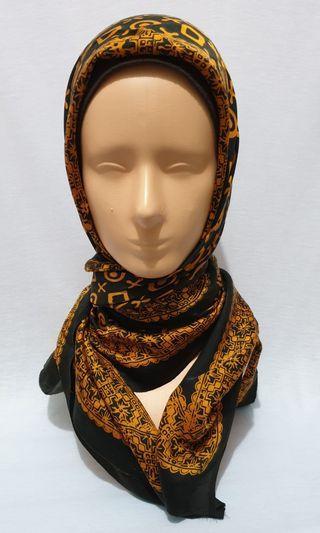 (Used) Batik silk scarf