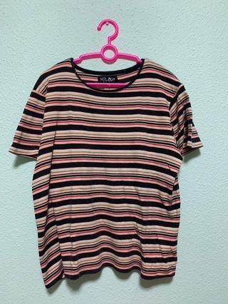 🚚 🔥 Vintage Striped Boxy Shirt