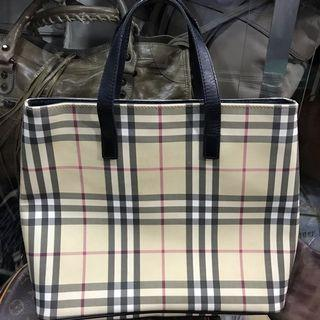 Authentic Burberry Novacheck Vinyl/leather Tote Bag