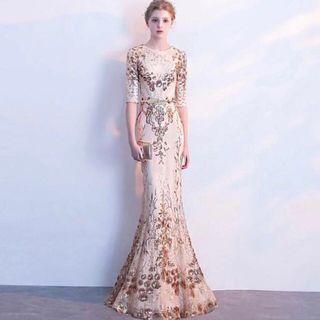 Evening Gown in Champagne
