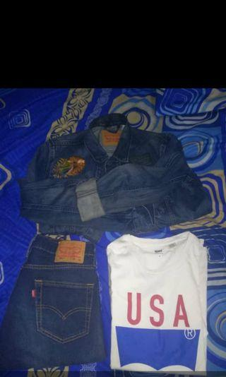 Take All T-shirt + celana jeans + jaket jeans