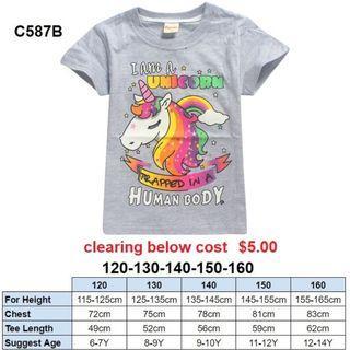 ***CLEARANCE*** Unicorn Tee C587B