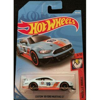 Hotwheels 2019 Muscle Mania Custom 18 Ford Mustang GT Rare Hot Wheels Gulf Racing