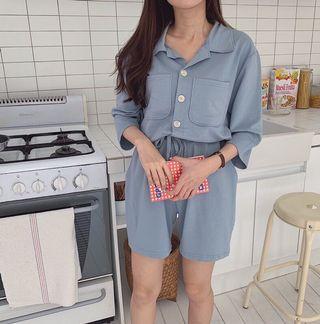 正韓排扣連身褲 #誠心購買打9折優惠