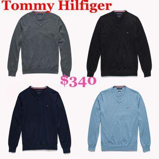Tommy Hilfiger Men Sweater 男裝V領冷衫