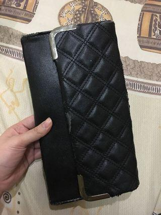 Black Leather Clutch #prelovedwithlove