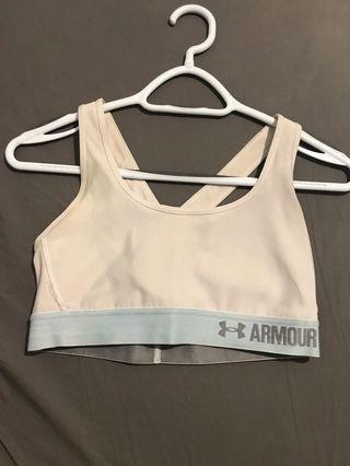 Under Armour white sports bra