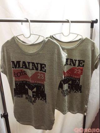 🚚 英文字母T-shirt 上衣 親子裝 現貨實拍