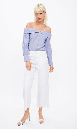 Zara Off The Shoulder Shirt