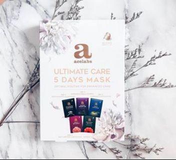 Korea Acelabs 5 days ultimate care mask set