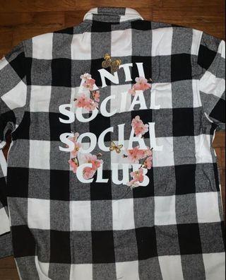Anti social club flannel
