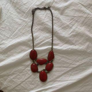 Kalung batu merah (gratis chain emas)