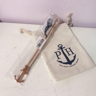 (包郵)PAUL HEWITT Anchor PHREP IP Rose Gold Hazelnut 船錨玫瑰金真皮手繩/手帶/手鐲 #細碼