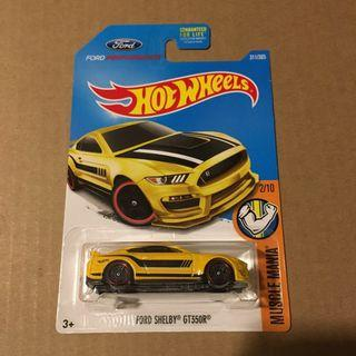 US Card Hot wheels Ford Shelby GT350R Mustang Yellow