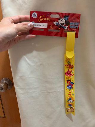 Hong Kong Disneyland donald duck 唐老鴨 luggage tag 行李帶