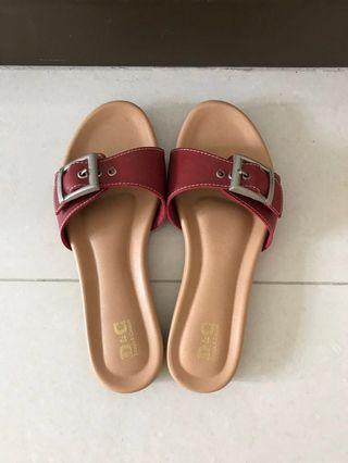 🚚 [Worn 1x] Red Ladies Sandals
