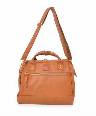 Anello Faux Leather Boston Sling Bag in Camel Colour
