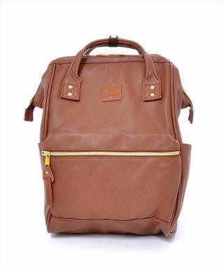 🚚 Anello Brown Faux Leather Backpack