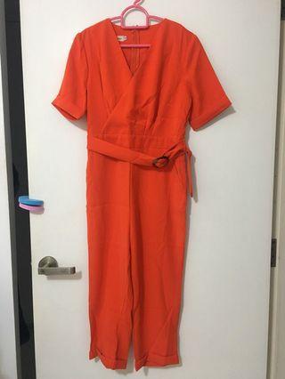 Orange romper jumpsuit