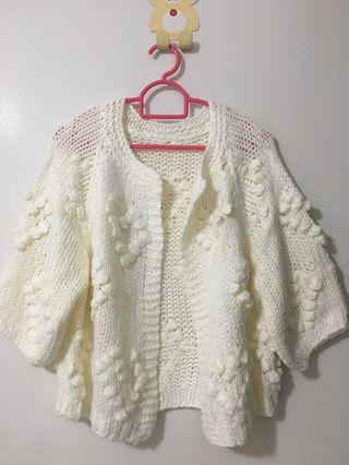🚚 Cardigan white soft knitted