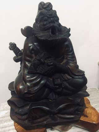 🚚 鍾馗黑壇木雕