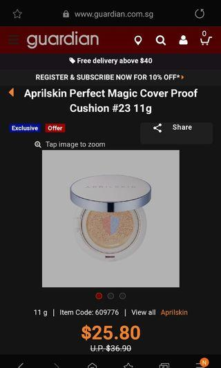 April Skin Perfect Magic Cover Proof Cushion 23