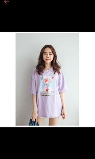🚚 正韓紫色棉質上衣