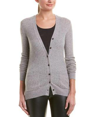 Vince Ribbed Cashmere Cardigan Size XS NEW