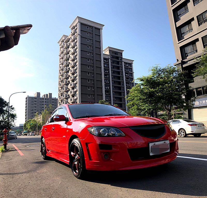 06年馬3 法拉利紅、頂級款、外觀大包款、便宜代步車,只賣到6月份特價中唷、要搶要快