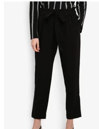Mango Chalk Black Trousers