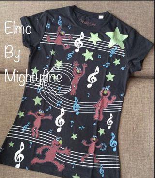 BN Elmo by Mightyfine Cap Sleeve junior/Ladies t shirt ( small )