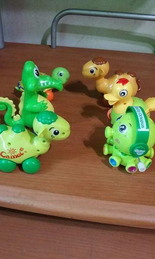 發條玩具 鱷魚 章魚 駱駝 小鴨 烏龜 小車