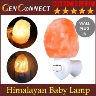 🚚 BN himalayan salt night lamp light (3 pin wall plug)
