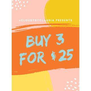 !!Buy 1 for $9.99, buy 3 for $25!!