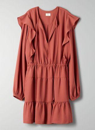 NWT Aritzia Wilfred Marvelle Dress in Cider Gold Size Small
