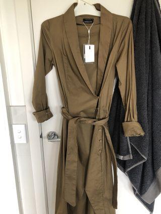 c/meo collective your type shirt dress olive green XS