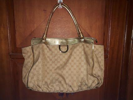 Gucci gold shoulder bag
