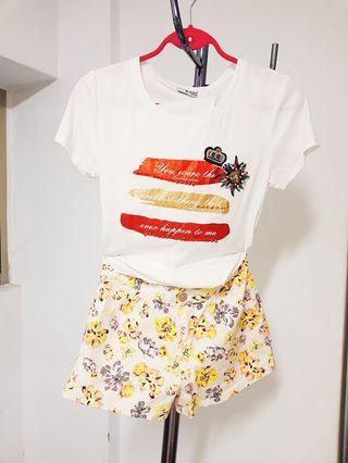 🚚 【👸小貴婦賣場】oneway 花短褲