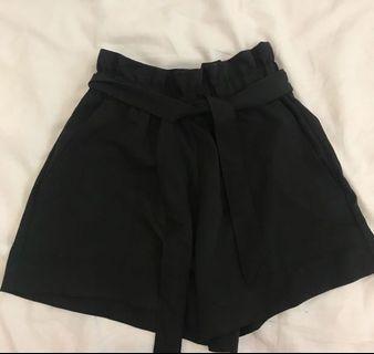Black Duffle Shorts
