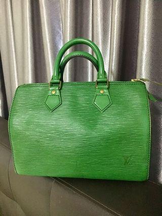 Louis Vuitton 25 in Borneo green