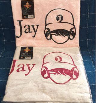 BN Jay Chou 周杰倫 World Tour Concert 2007 Towel (Pink/Light Grey)