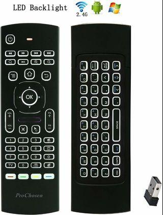 2.4G Backlit Air Mouse Remote, Wireless Keyboard