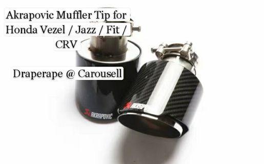 Akrapovic Exhaust Muffler Tip for new Honda Jazz / Fit / Vezel / HRV / Odyssey / CRV