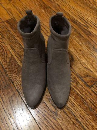 Nude sock boots, size 6