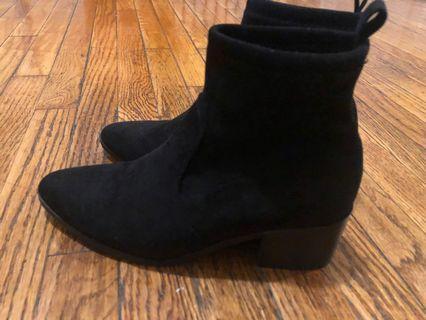Black sock boots, size 6