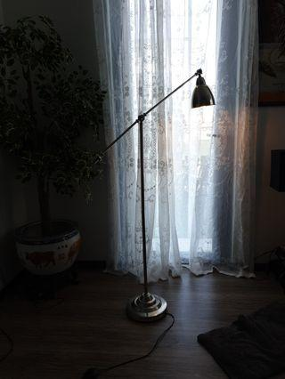 tall floor stainless steel lamp heavy