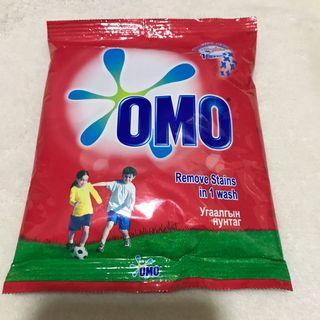 OMO Powder Detergent 100g Remove Stains (TRAVEL KITS).