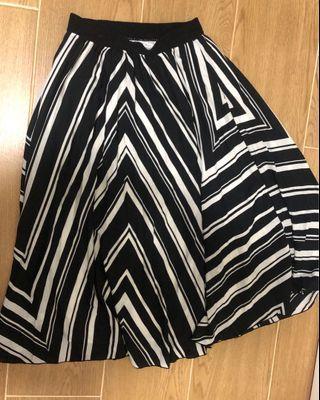 黑白 幾何 圖案 半截裙