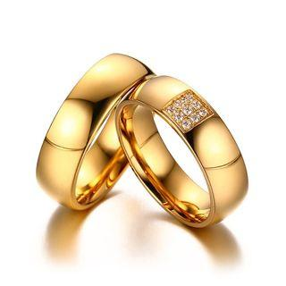 [SALES]👫PERSONALIZED | CUSTOMIZED | ENGRAVING GOLD STAINLESS STEEL WOMEN CZ WEDDING RING BAND BIJOUX COUPLE ENGAGEMENT RING | ANNIVERSARY GIFT | ENGAGEMENT GIFT | UNISEX COUPLE JEWELRY👫
